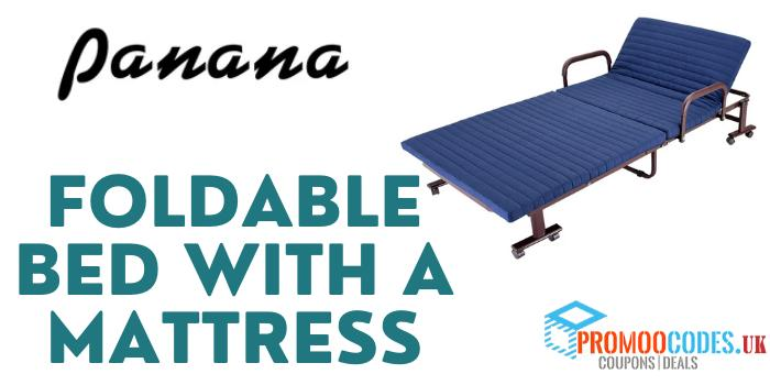 Foldable Bed with a Mattress