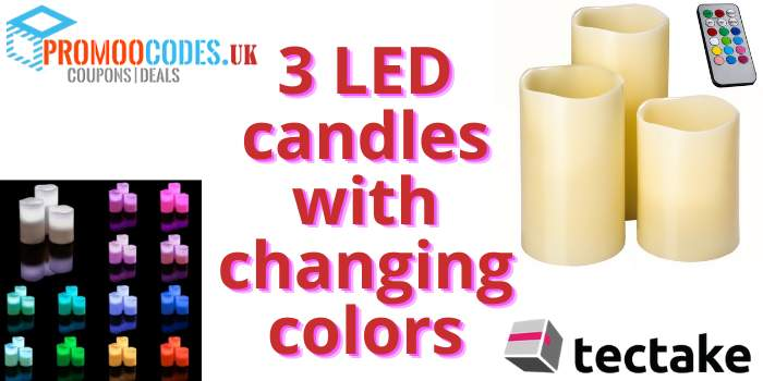 3 LED Candles with Changing Colors