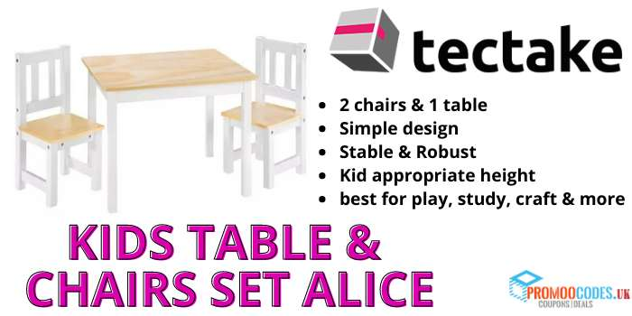 Kids Table & Chairs Set Alice